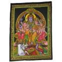 Tapiz Shiva y Familia grande