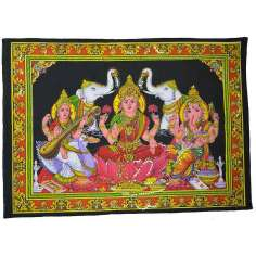 Tapiz Laksmi, Saraswati y Ganesh grande