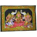 Tapiz Laksmi, Saraswaty y Ganesh grande