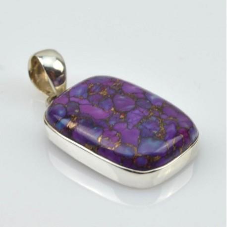 Colgante de plata con Cuperita violeta 07L