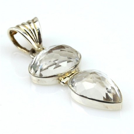 Colgante de plata con Cuarzo Cristal CC02