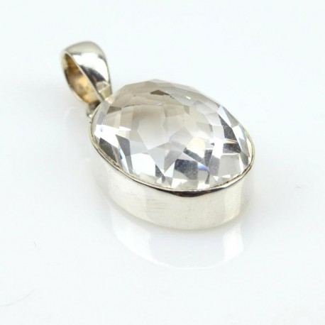 Colgante de plata con Cuarzo Cristal CC03