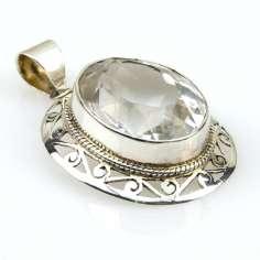 Colgante de plata con Cuarzo Cristal CC05
