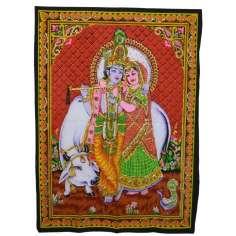Tapiz Krishna y Radha 2