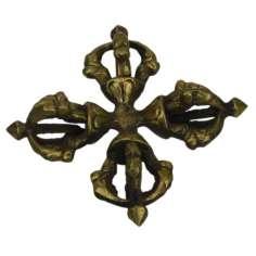 Dorje doble Tibetano 9 x 9 cm