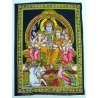 Tapiz Shiva y su Familia
