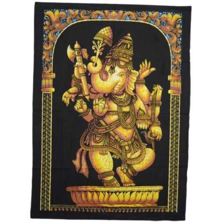 Tapiz Ganesh pintado técnica batick