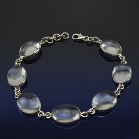 Pulsera de plata con Cuarzo cristal