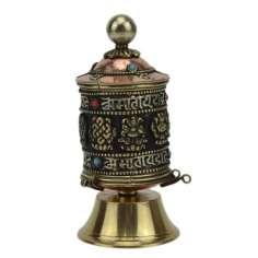 Molinillo Budista de oración de sobre mesa pequeños hechos en Nepal