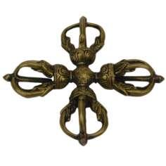 Dorje doble Tibetano 12 cm x 12 cm