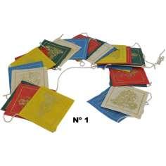 Banderas de oración de papel